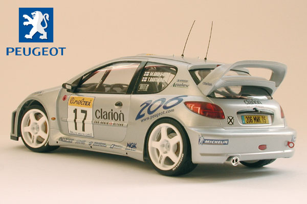 tamiya peugeot 206 wrc 2000 monte carlo. Black Bedroom Furniture Sets. Home Design Ideas